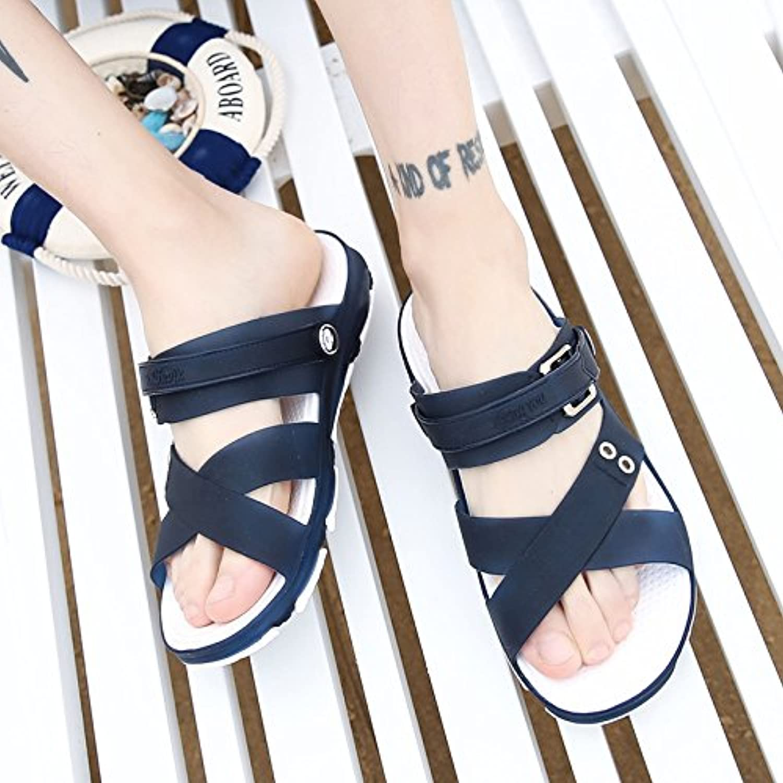 Das Wort Sommer Sandalen nicht Herren  slip Hausschuhe Badeschuhe Sandalen 40 Dunkelblau