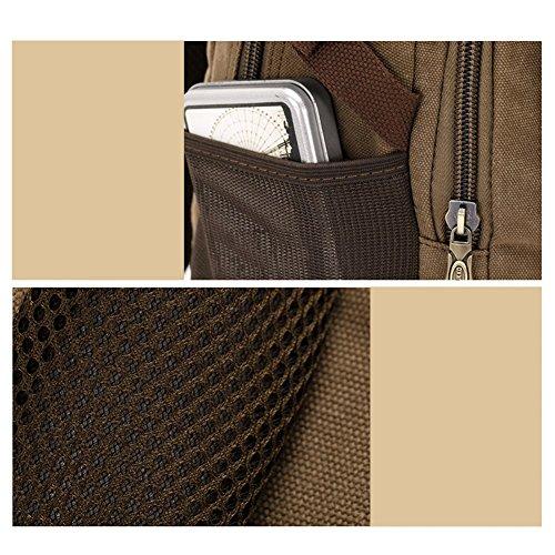 YAAGLE Outdoor Gepäck Herren Damen koreanisch Schüler Schultasche Rucksack Laptoptasche Reisetasche Bergsteigen Schultertasche-schwarz armee-grün