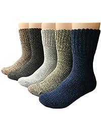 Vellette Calcetines de deporte termicos ricos en Lana Tejida Gruesa Cálida y Suave para Invierno y