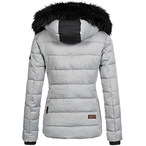 Marikoo UNIQUE Damen Jacke Mantel Steppjacke Parka Winter warm XS-XL 4 Farben Grau