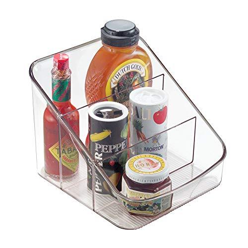 InterDesign Linus Caja para cocina, organizador de plástico con 3 compartimentos, organizador...