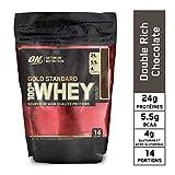 Optimum Nutrition ON Gold Standard 100% Whey Proteína en Polvo Suplementos Deportivos con Glutamina y Aminoacidos Micronizados Incluyendo BCAA, Double Rich Chocolate, 14 Porciones, 450 gr