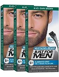 Just For Men - M45 - Bart Und Schurrbart - dunkelbraun, 3er Pack