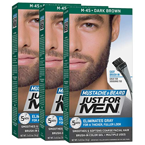 Just For Men - M45 - Barba e baffi - Nero Marrone, confezione da 3