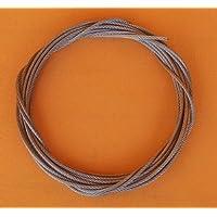 Edelstahlseil Ø 3mm / Länge: 1 Meter - 7x7 halbweich - stainless steel wire rope