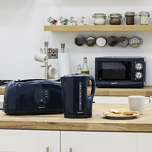 Signature Kettle/Toaster and Microwave Kitchen Set, Grey