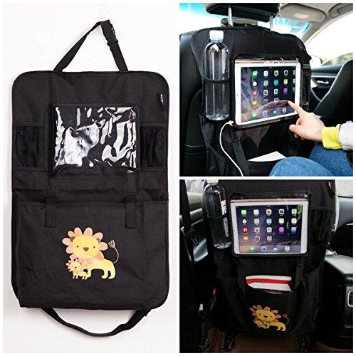 Preisvergleich Produktbild Auto Rückenlehnenschutz und Kinder Rücksitzschoner, Auto Rücksitz Organizer, Wasserdicht Autositztasche Sitzabdeckung (1 Stück)