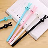 Bodhi2000 4Pcs Rabbit Ballpoint Pen 0.38mm Black Ink Gel Pens Stationery Office School Supplies