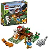 LEGO Minecraft - La Aventura en la Taiga, Set de Construcción Inspirado en el Juego, Incluye Minifigura de Steve, Esqueleto y un Lobo de Juguete (21162)