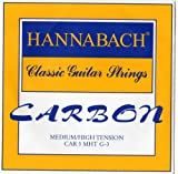 Hannabach Strings for classic guitar CARBON Medium/High tension Discant G3