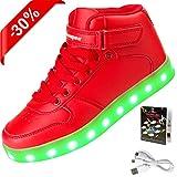 Shinmax LED Schuhe, 7 Farbe USB Aufladen LED Leuchtend Sport Schuhe...