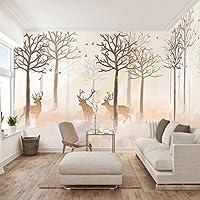 Huangyahui Hirsche Tapeten Das Wohnzimmer Tv Hintergrund Tapete Schlafzimmer Fernsehen Wandbild Wand Nahtlose Anpassung
