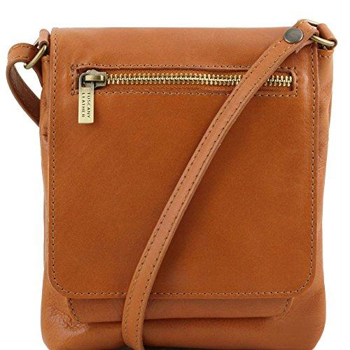 Tuscany Leather Sasha - Borsello unisex in pelle morbida - TL141510 (Rosso) Cognac