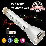 Tragbares Mikrofon Bluetooth Drahtloses, Karaoke Mikrofon Bluetooth Lautsprecher, Mikrofon Lautsprecher Kinder, Wireless Microphone Karaoke Mic für Smartphones IOS iPhone, iPod, iPad, Android Party