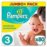 Pampers Premium Schutz Gr. 3Jumbo + Pack 80Windeln