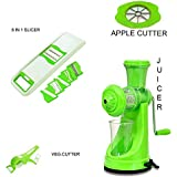 JD Kitchenware Plastic Kitchen Tools Combo Of Manual Fruit & Vegetable Juicer + 6 In 1(Combo)