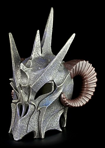 Dämonen Helm – Dunkler Lord – Totenkopf Figur Schädel Hörner - 3