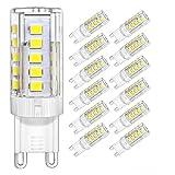 DiCUNO G9 LED Lampe 4W, Ersatz für 40W Halogen Lampen, Tageslicht Kaltweiß 6000K, AC 220V, 400 LM, Nicht Dimmbar (12er-Pack)