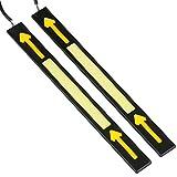 Auto Wasserdichte Tagfahrlicht, 2 STüCKE 12 V DRL Drehen Pfeilform Auto COB LED-Licht für Auto Nebelscheinwerfer / Blinker Licht / Scheinwerfer / Fahren Tageslicht Licht