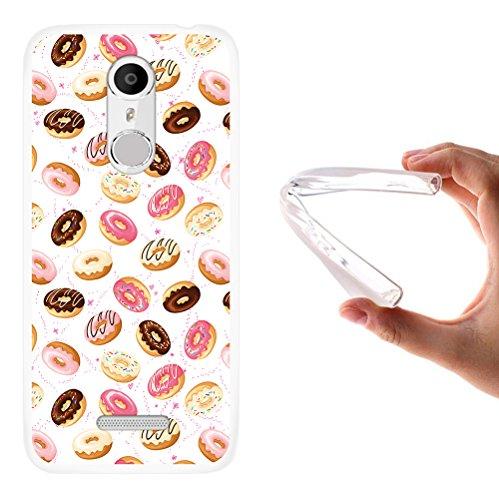 WoowCase Coolpad Torino S Hülle, Handyhülle Silikon für [ Coolpad Torino S ] Donuts Handytasche Handy Cover Case Schutzhülle Flexible TPU - Transparent