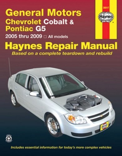 general-motors-chevrolet-cobalt-pontiac-g5-2005-thru-2009-all-models-haynes-repair-manual-by-jj-hayn