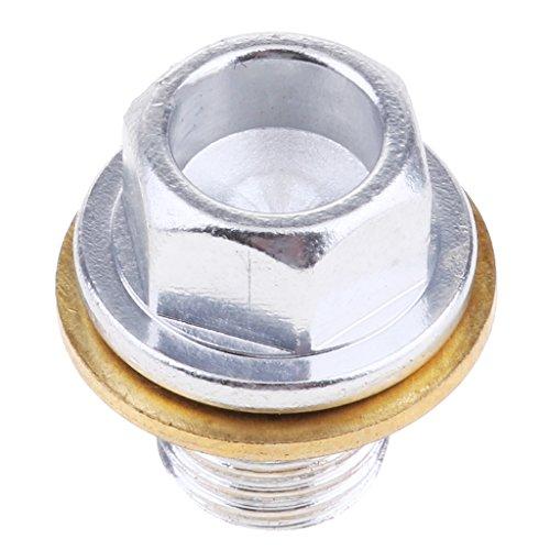 Almencla Bullone per Tappo di Scarico Olio Magnetico per Raccolta di Scarti di Metallo in Eccesso Nell'olio Moto