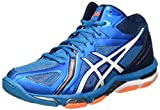 ASICS Herren Gel-Volley Elite 3 Mt Volleyballschuhe, Blau (Blue Jewel/White/Hot ORANGE), 41.5 EU