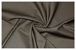 V Walkers Mens Poly Blend Self Design Unstitched Trouser Fabric (1.30 Mtr_Brown_VST131)