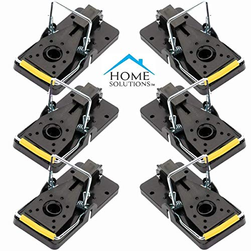 Home SolutionsTM Mouse Trap, 6 Pack, Mice Traps, Mousetraps, For Indoors, For Outdoors, Kill Instantly, Rodent Trap, Snap Killing Traps, Best Mouse Traps