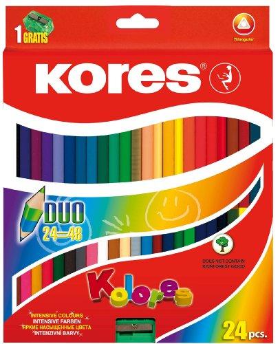 Kores Buntstift Kolores Duo, 3-kant mit Spitzer, 48 farben