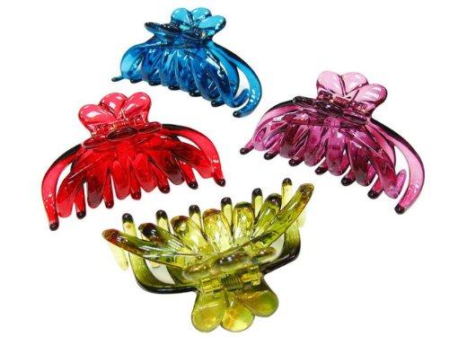 rougecaramel - Accessoires cheveux - Pince crabe simple - rouge