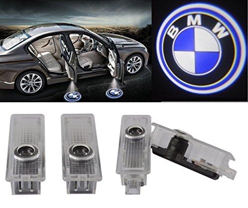 Preisvergleich Produktbild ALBRIGHT 4 x LED Autotür Willkommen Licht Einstiegsbeleuchtung mit LOGO für E90 E91 E92 E93 M3 E60 E61 F10 F07 M5