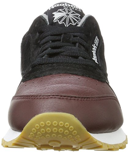 Reebok Classic Leather LS, Sneakers Basses Homme Noir (Black/burnt Sienna/ash Grey-gum)