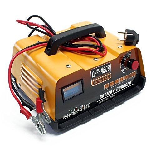 Batterie Ladegerät für 12V / 24V Autobatterien mit Starthilfe Funktion