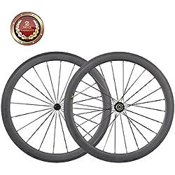 IMUST 700C Carbono Carretera Bicicleta de la Ruedas 50 mm Clincher Ruedas 700c Aero Racing Bicicleta Ruedas