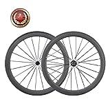 IMUST Carbone Rroue Vélo Route Clincher 50mm Profondeur Shimano 10/11 Vitesses 1550g