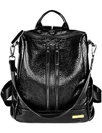 5eb48e2ed7cf HapiLeap Women Backpack PU Leather Fashion Backpack Travel Casual  Detachable Covertible Ladies Shoulder Bag