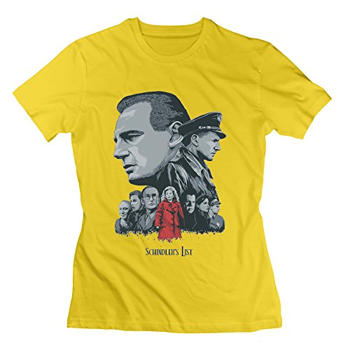 kfr-donna-tshirts-schindler-movie-poster-giallo-yellow-x-small