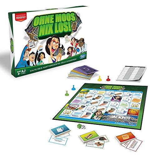 Hasbro Monopoly E0751100 Ohne Moos Nix Los, Familienspiel
