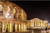Posterlounge Forex-Platte 120 x 80 cm: Arena und Palazzo Barbieri, Verona von Editors Choice