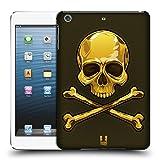 Head Case Designs Gold Totenkopf Mit Gekreuzten Knochen Ruckseite Hülle für Apple iPad mini 1 / 2 / 3