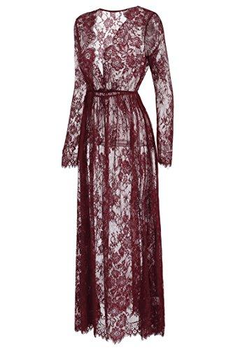 cooshional - Robe - Femme rouge bordeaux