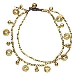 81stgeneration Neue MultiSpirale Charme Gold Perlen Messing Armband Fußkette