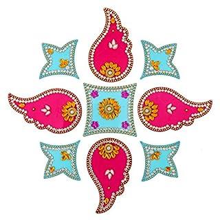 Amba Handwerk Rangoli/Home Decor/Diwali/Geschenk für Zuhause/Innenraum, handgefertigt, Bodenaufkleber/Wanddekoration/Bodendekoration/Neujahrsgeschenk/Party. Rangoli 22