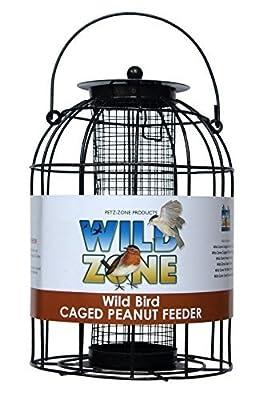 Wild Zone Caged Peanut Nut & Seed Feeder Wild Garden Bird Feeder by Wild Zone