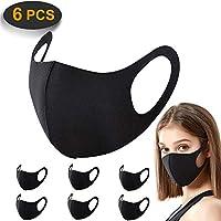 6 Pack Face Masks, ACMETOP Anti Dust Mask, Unisex Carbon Fiber, Mouth Mask, Reusable & Washable Masks for Running,...