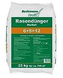 Beckmann Profi Herbst Rasendünger 6+5+12 • 25 kg für ca. 700 m² • für alle Sport- und Zierrasenflächen