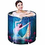Erwachsenen faltbare wanne, Home badewanne, Aufblasbare badewanne, Dicker Kinder Badewanne-A 70x70cm(28x28inch)