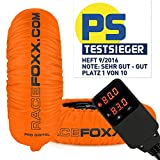 Reifenwärmer RACEFOXX PRO DIGITAL bis max. 99° C SUPERBIKE, 120/17 vorne und 180 bis 200/17 hinten neon orange
