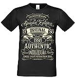 Soreso Design T-Shirt Geschenk zum 20. Geburtstag Special Edition 1998 Bruder Sohn Freund Farbe: schwarz Gr: L